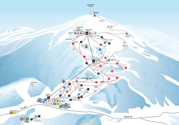 Patscherkofel Ski Resort Piste Map