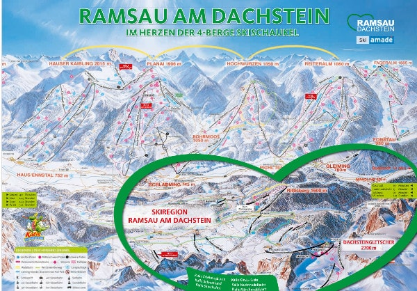 Ramsau Dachstein Ski Resort Piste Map