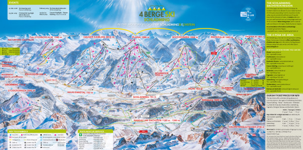 Schladming Dachstein Ski Resort Piste Map