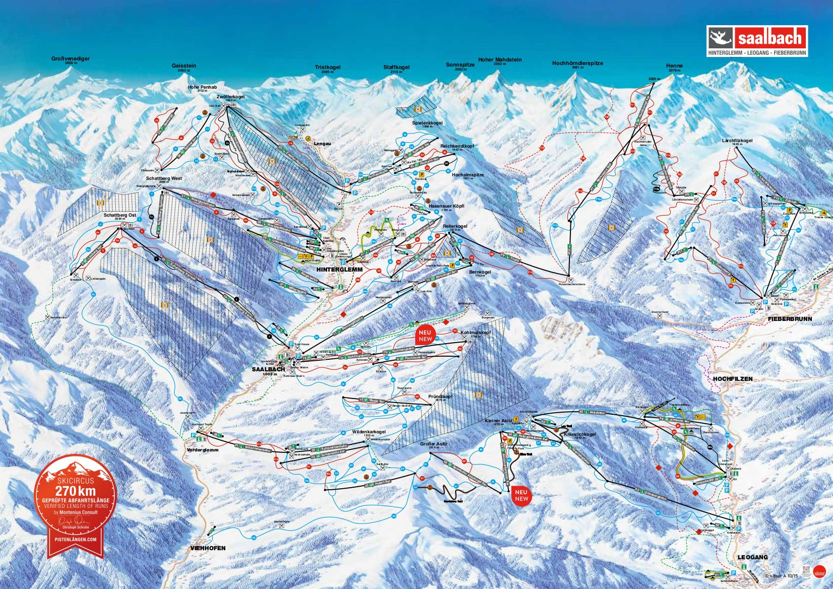 Image result for saalbach piste map