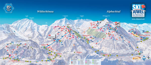 Wildschönau Ski Resort Piste Map
