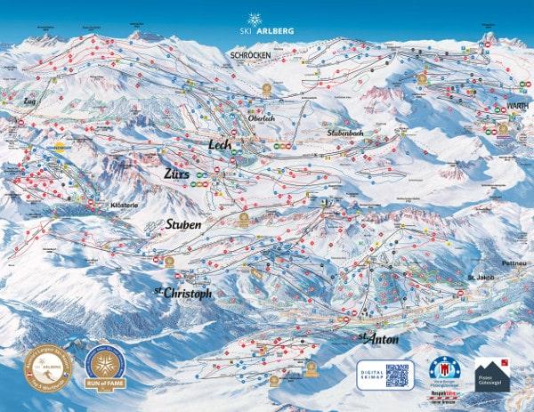 St Anton Am Arlberg Piste Map Free Downloadable Piste Maps
