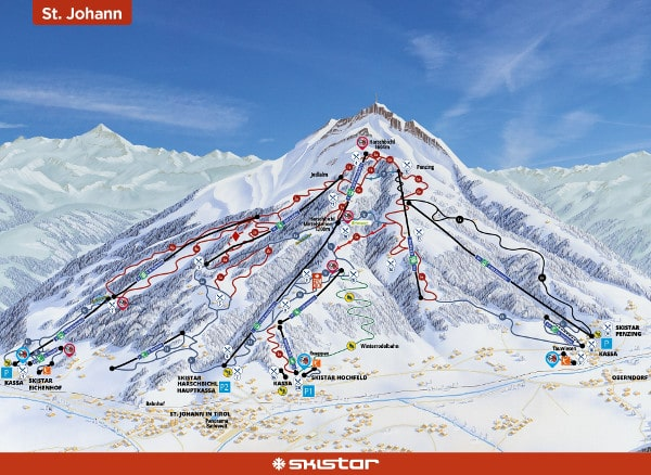 St Johann Ski Resort Piste Map