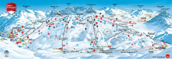 Warth Schroecken Ski Resort Piste Map