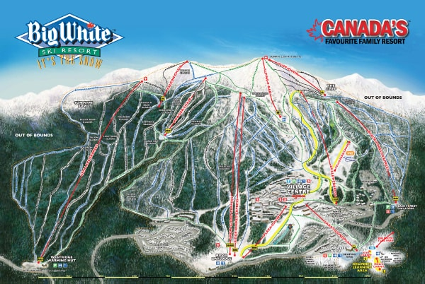 Big White Ski Resort Piste Map
