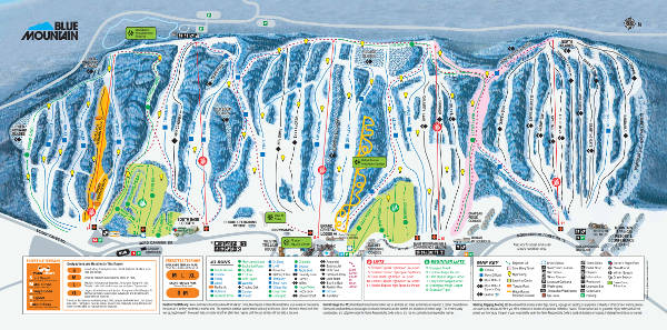 Blue Mountain Ski Resort Piste Map
