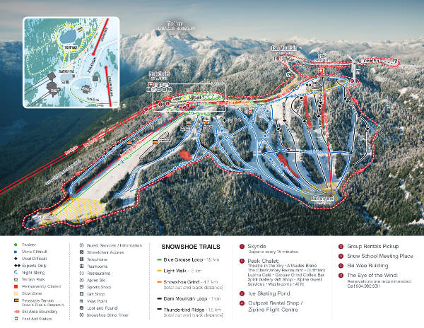 Grouse Mountain Ski Resort Piste Map