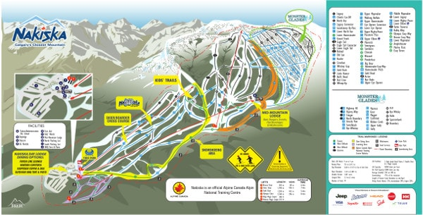 Nakiska Ski Resort Piste Map