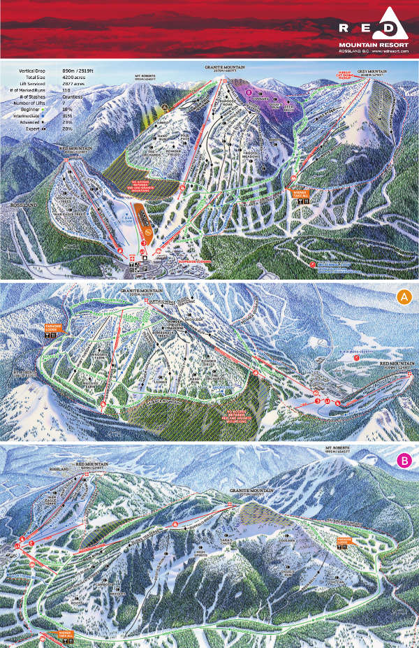 Red Mountain Ski Resort Piste Map