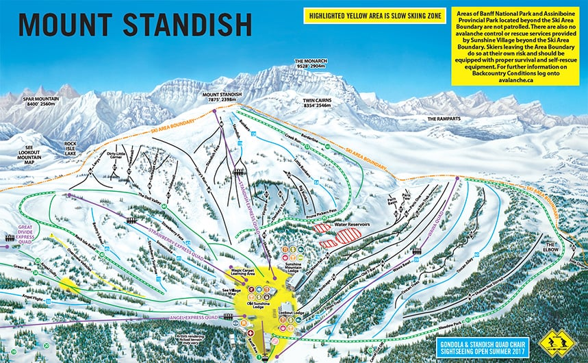 Sunshine Village Map Sunshine Village Map | compressportnederland Sunshine Village Map