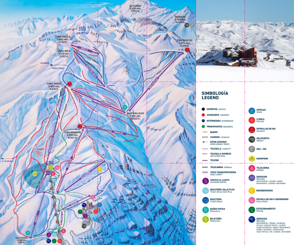 Valle Nevado Ski Resort Piste Map