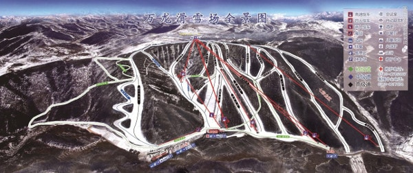 Wanlong Ski Resort Piste Map