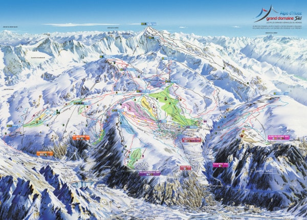 Alpe D'Huez Ski Resort Piste Map
