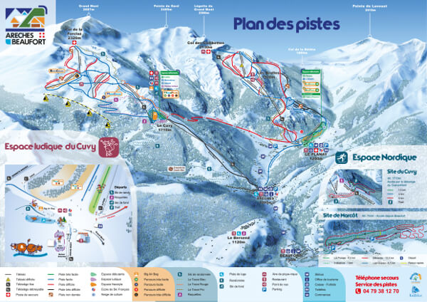 Areches Beaufort Piste Map