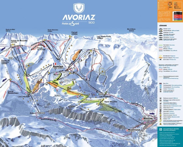 Avoriaz Ski Map Avoriaz Piste Map Free downloadable piste maps.