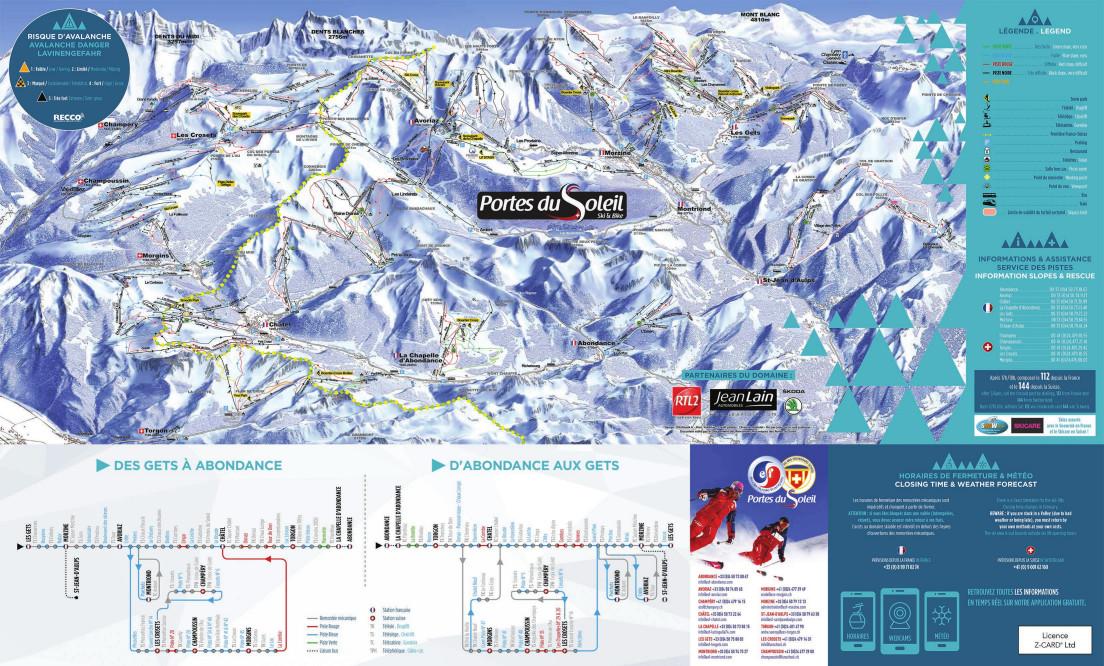 Avoriaz Piste Map Free downloadable piste maps