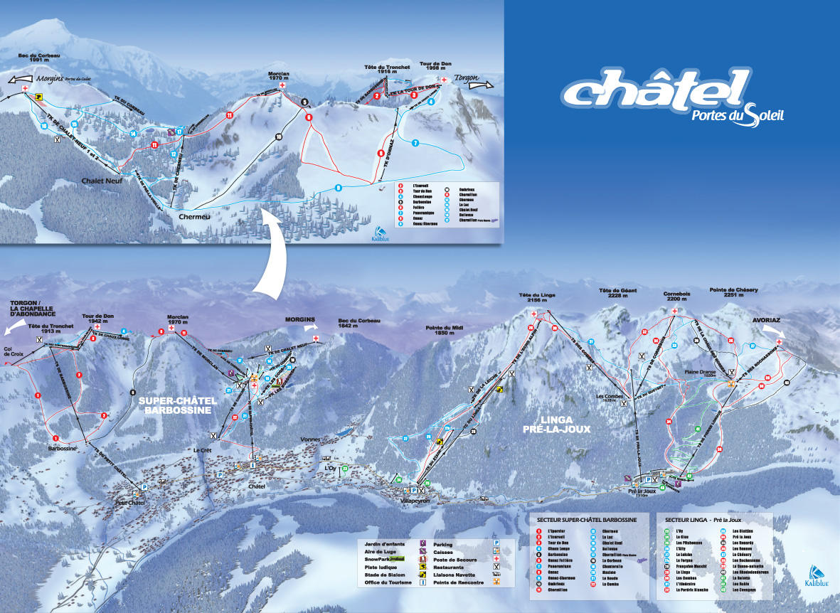 Chatel Piste Map Free downloadable piste maps
