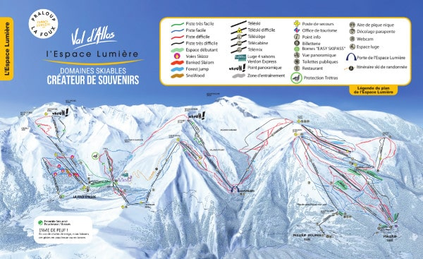 L'Espace Lumiere Ski Resort Piste Map