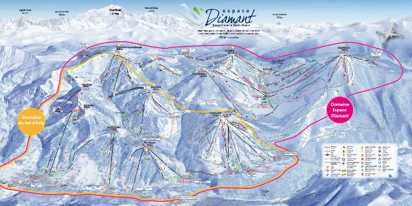 Espace Diamant Ski Resort Piste Map