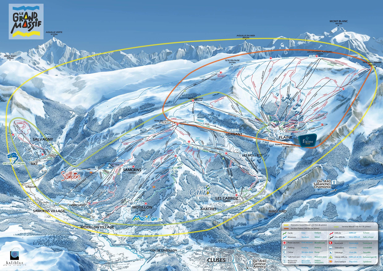 Flaine Ski Map Flaine, France ∣ Resort Guide ∣ Columbus Direct Ski Flaine Ski Map