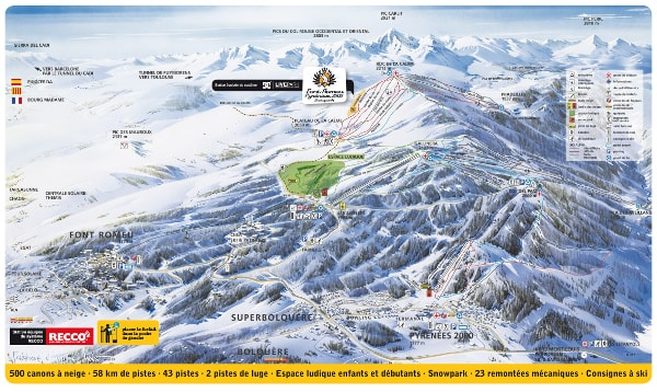 Font Romeu Ski Resort Piste Map