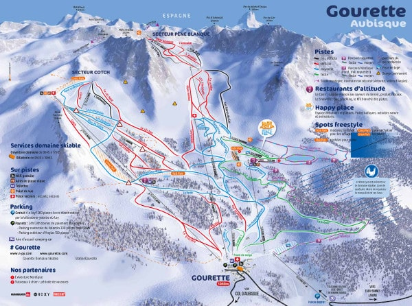 Gourette Ski Resort Piste Map