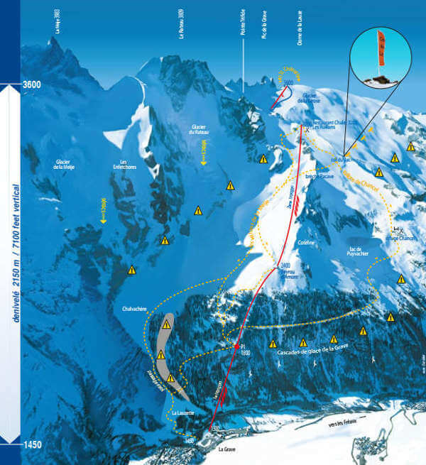La Grave Piste Map Free downloadable piste maps