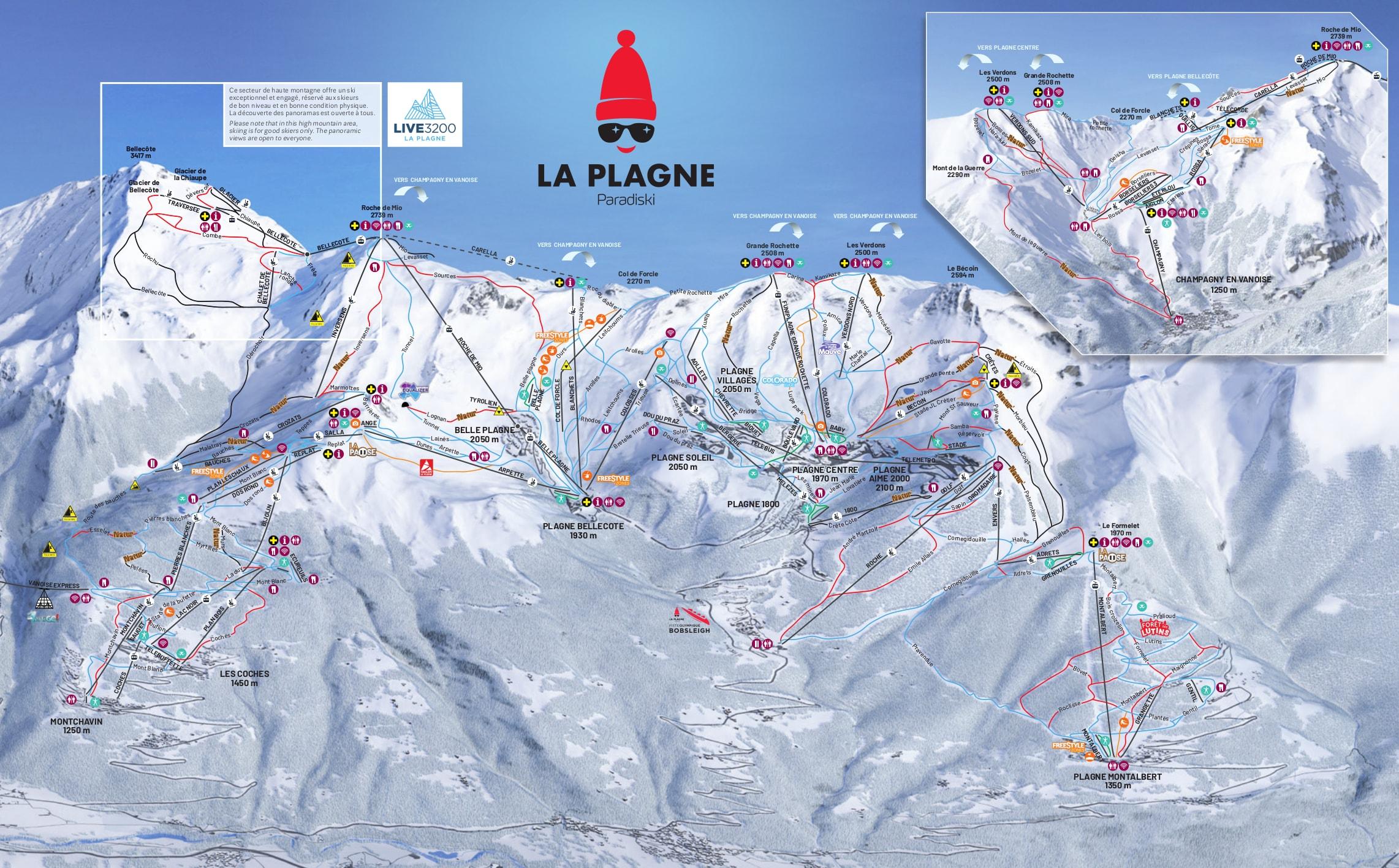 La Plagne Piste Map La Plagne Piste Map Free downloadable piste maps. La Plagne Piste Map