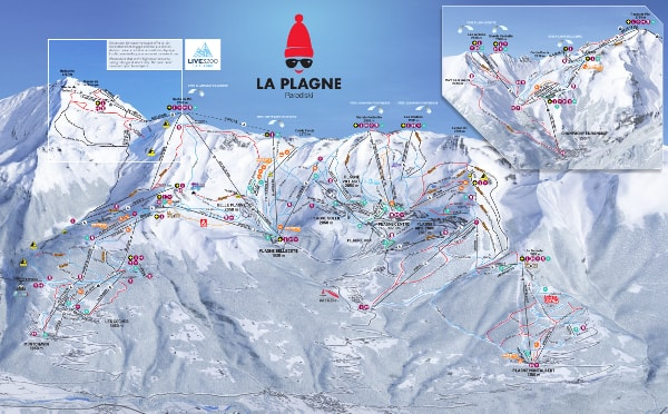 La Plagne Ski Resort Piste Map