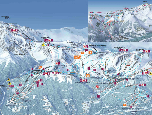 La Plagne Piste Map Free downloadable piste maps