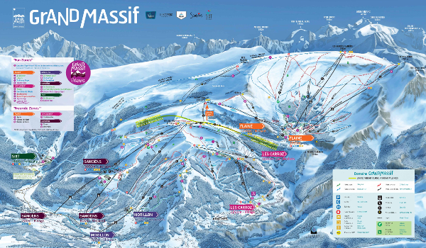 Le Grand Massif Ski Resort Piste Map