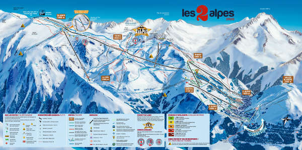 Les Deux Alpes Ski Resort Piste Map