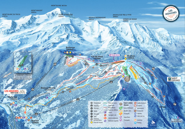 Les Houches Piste Map Free downloadable ski piste maps