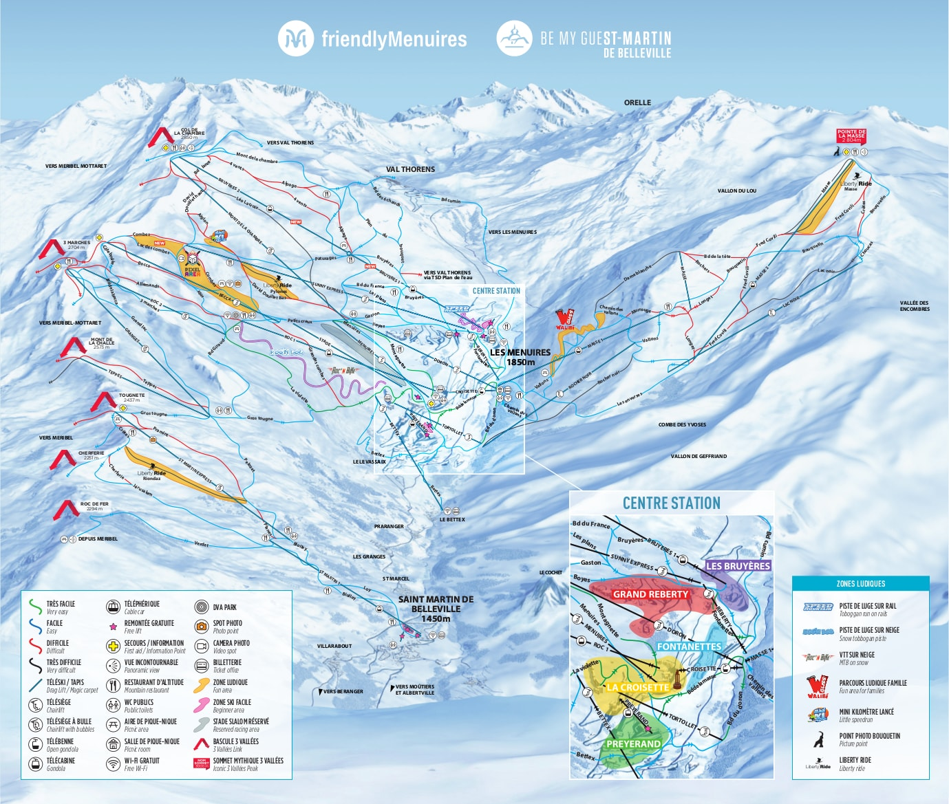 St Martin On World Map.Saint Martin De Belleville Piste Map