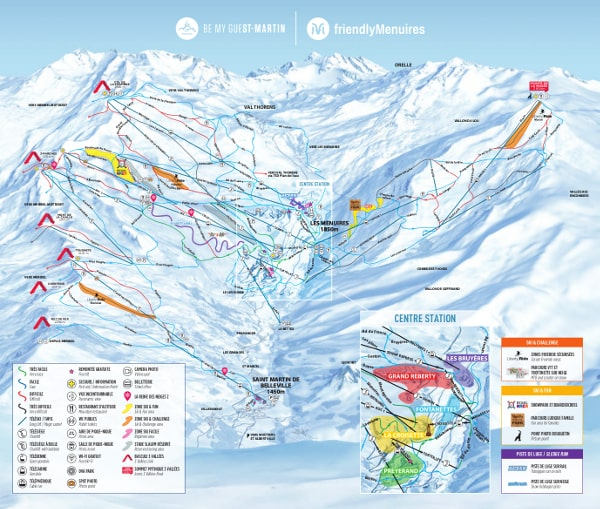Les Menuires Piste Map on