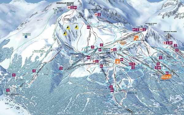 Les Arcs Piste Map Free downloadable piste maps