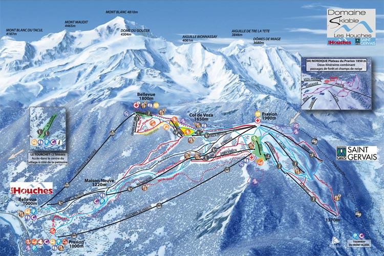 Chamonix Piste Map Le Tour