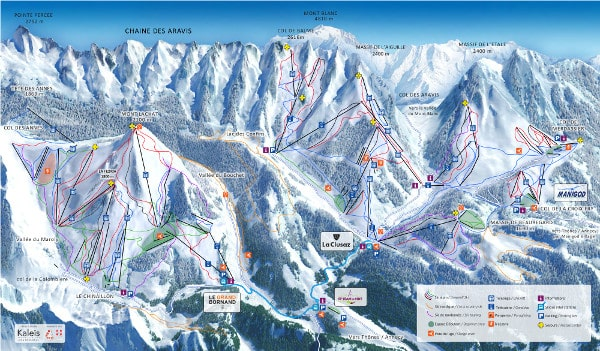 Massif des Aravis Piste Map Ski Resort Piste Map