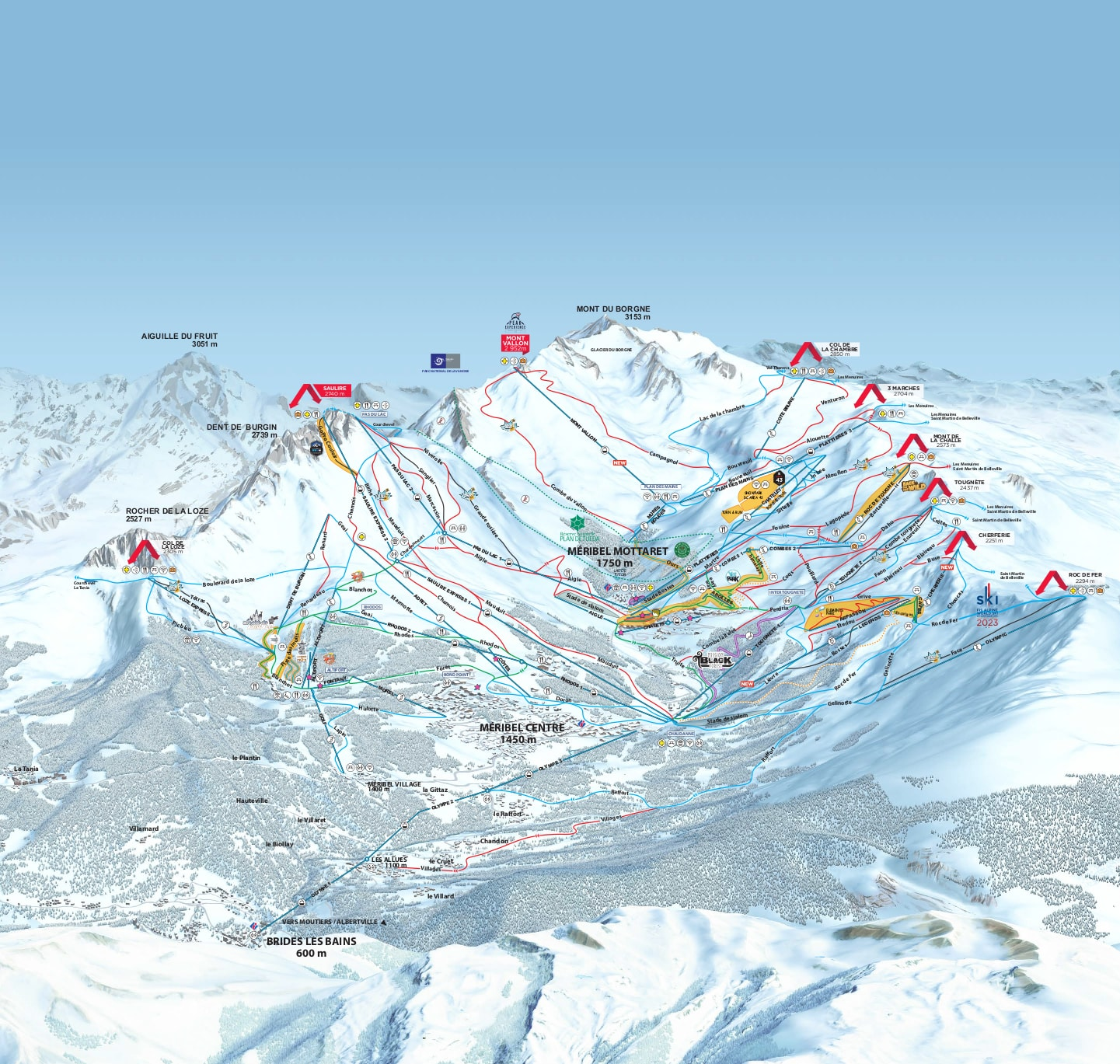 Meribel Ski Map Meribel Piste Map Meribel Ski Map