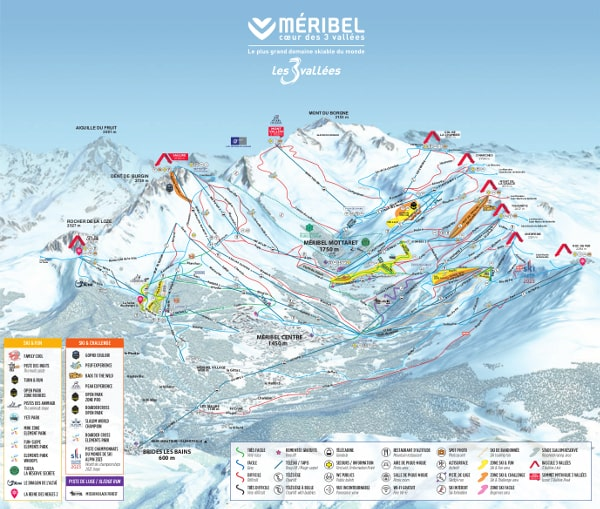 Meribel Valley Piste Map