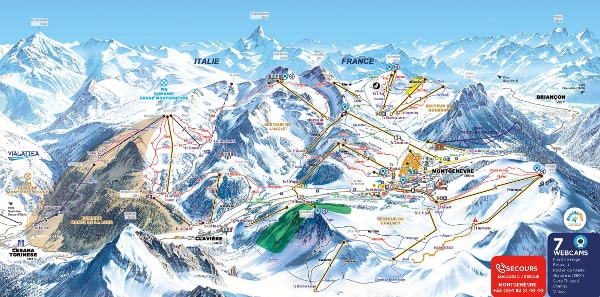 Montgenevre Ski Resort Piste Map