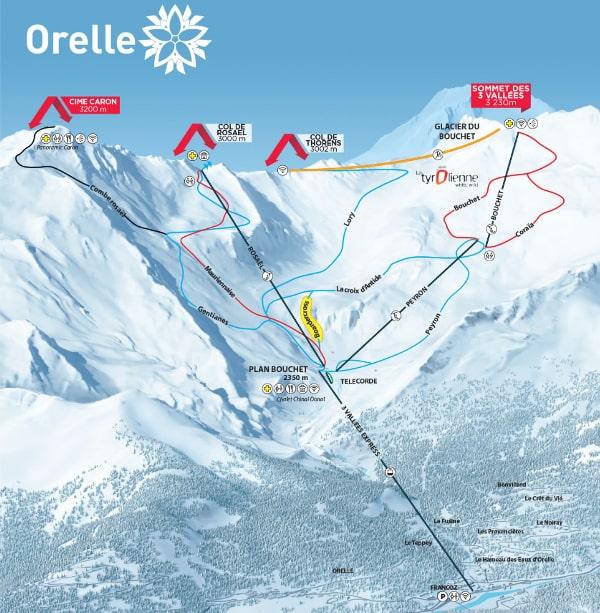Orelle Piste Map