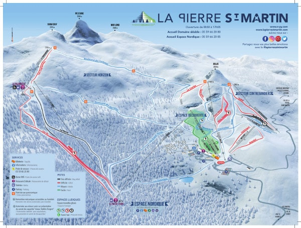 Pierre St Martin Ski Resort Piste Map