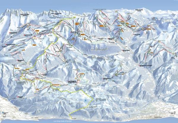 Portes Du Soleil Piste Map Free To Download on