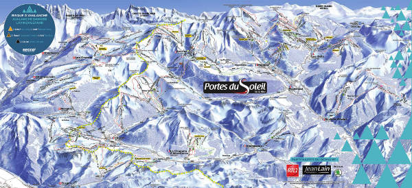 Portes du soleil piste map free to download for Les portes logiques pdf