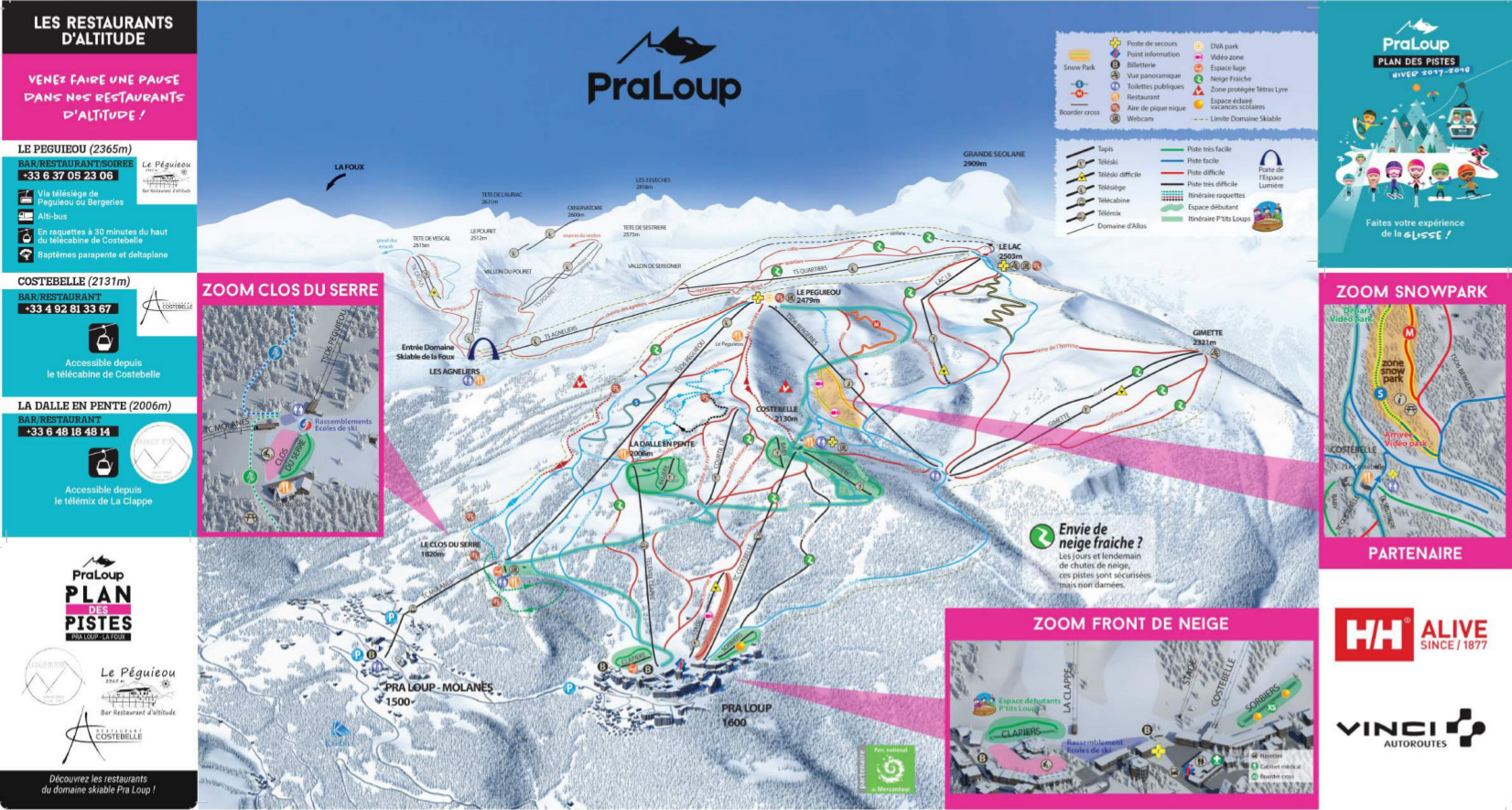 Pra Loup Piste Map Free downloadable piste maps