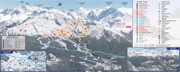 Sainte Foy Ski Resort Piste Map