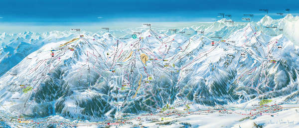 Serre Chevalier Ski Area Piste Map