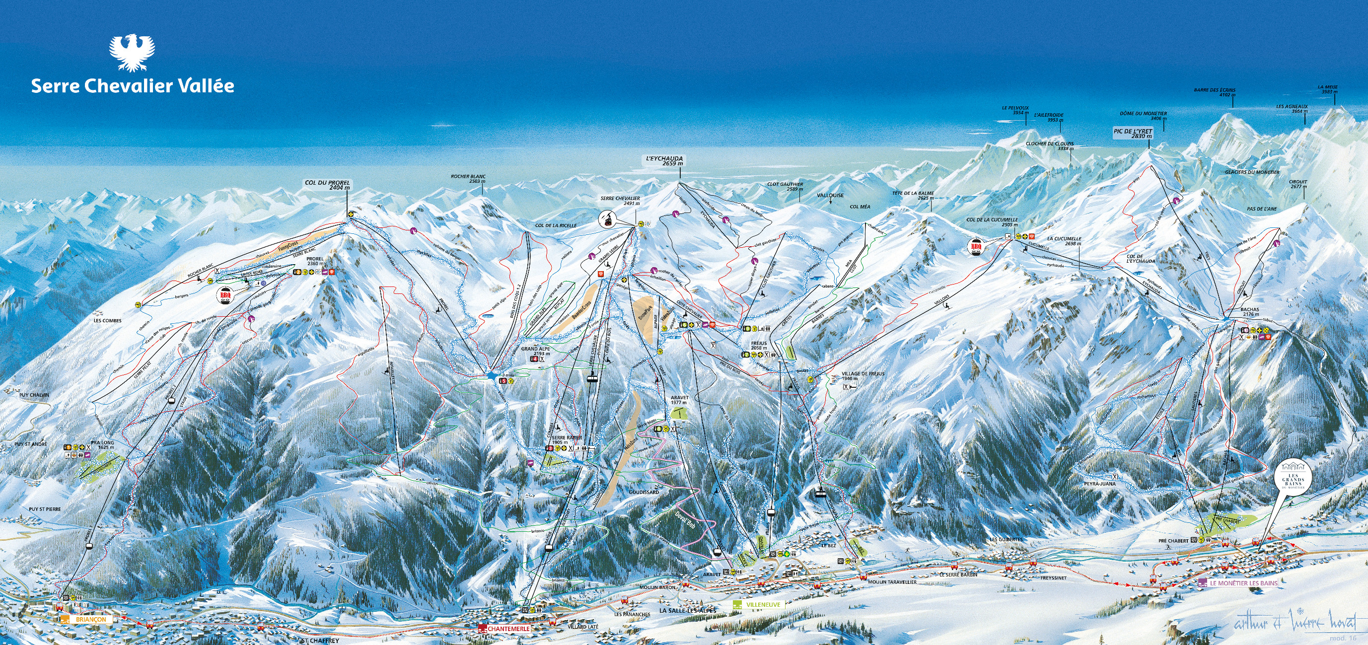 Serre Chevalier Piste Map Free downloadable piste maps