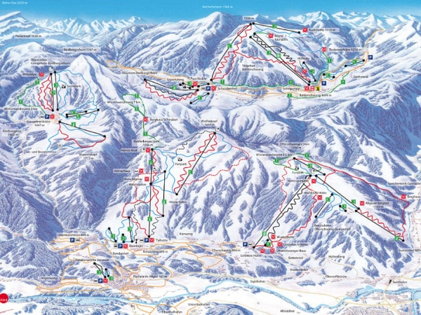 Allgau Ski Resort Piste Map